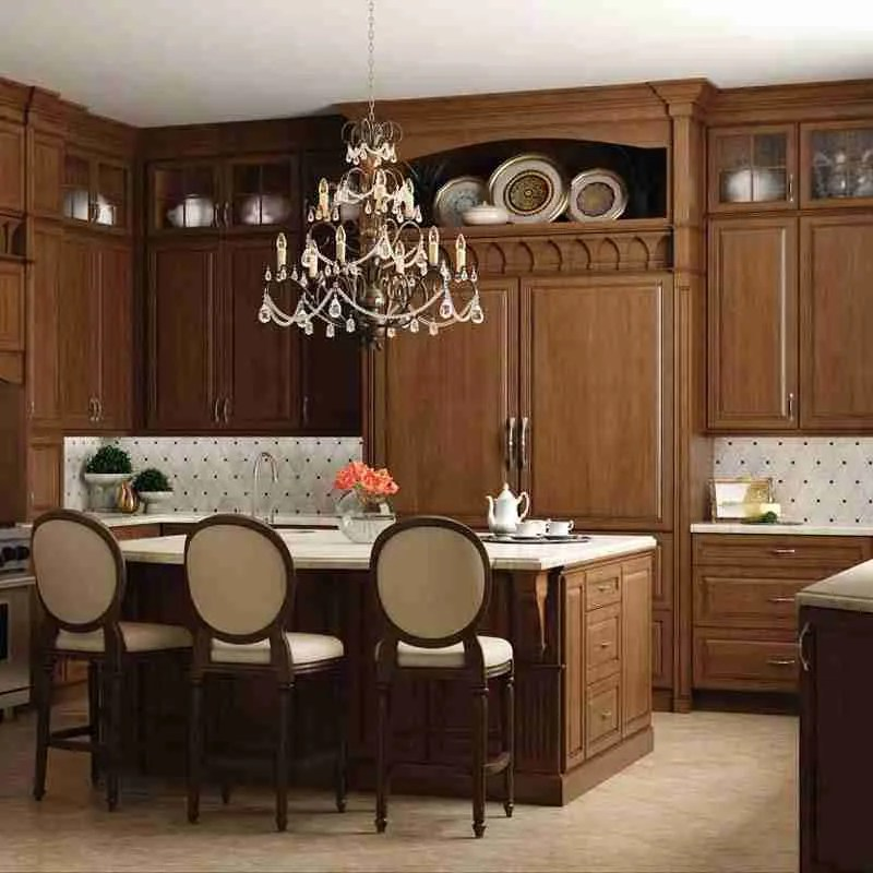Woodland Cabinetry Formal Alder Kitchen Cabinets