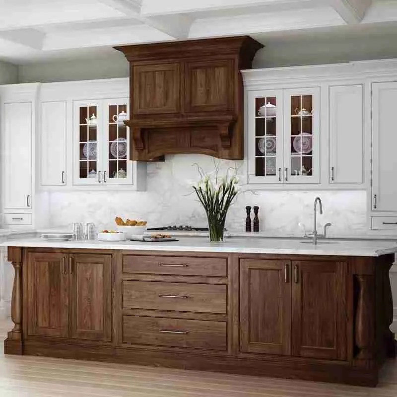 Woodland Cabinetry Walnut Kitchen Cabinets