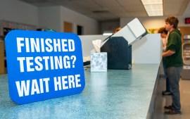 DMV SIGN FINISH TESTING