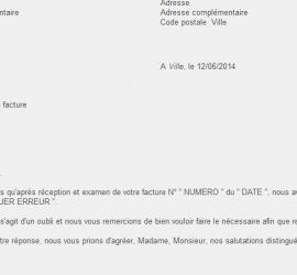 carta reclamacion factura frances