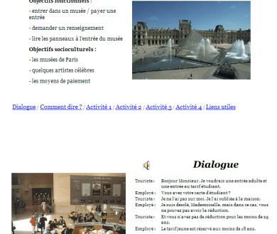 visita de un museo en francia