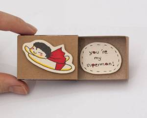 Cute DIY Matchbox Cards for lover I Love You