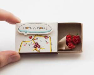 Cute DIY Matchbox Cards for Mothers Day