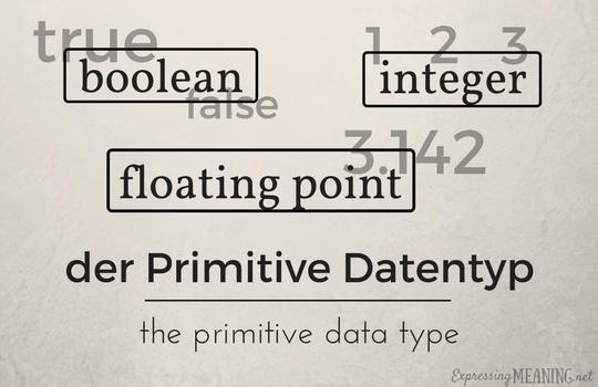 Der Primitive Datentyp - the primitive data type