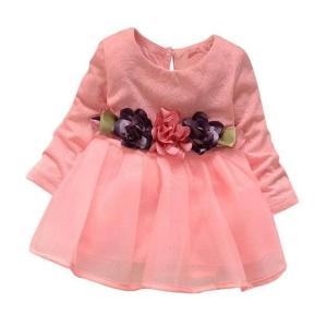 Girls Dresses Long Sleeve Party Flower Princess Dress Robe Fille Enfant Kids Outfits Clothes