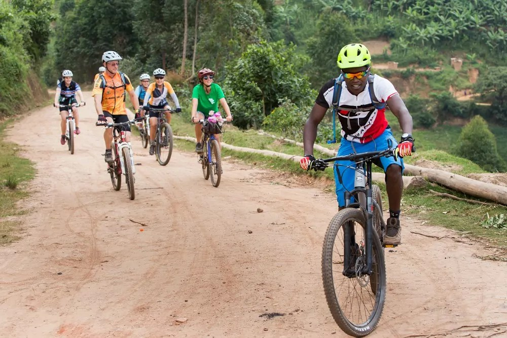 cycling at Chameleon Hill Lodge