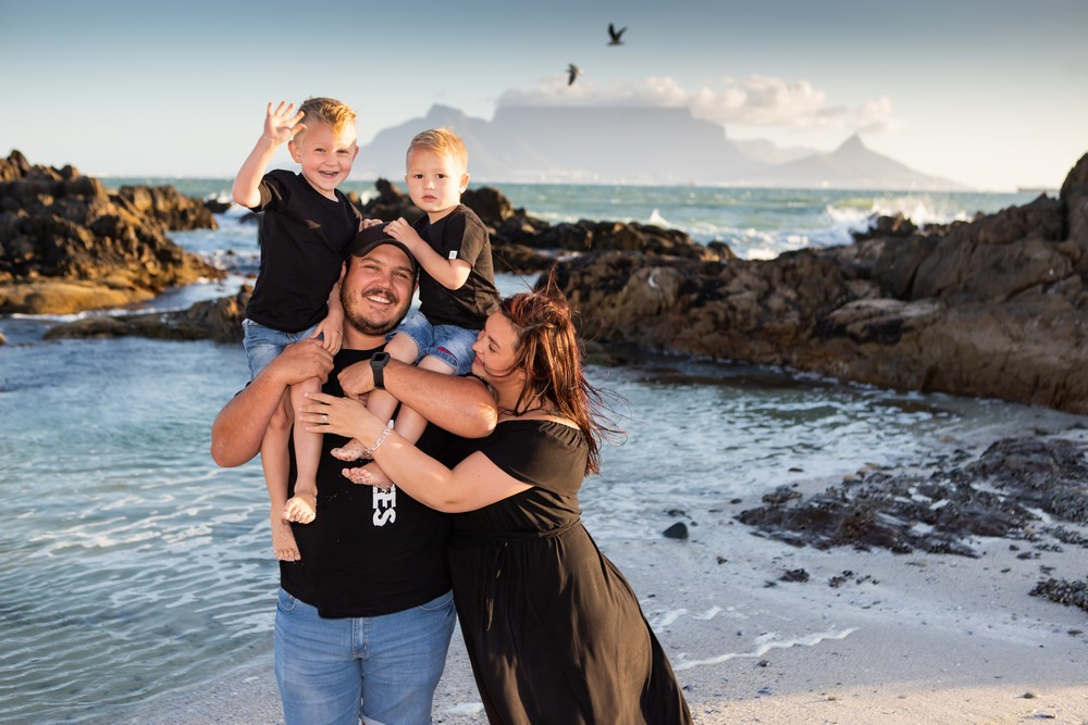 Table mountain Cape Town family photography