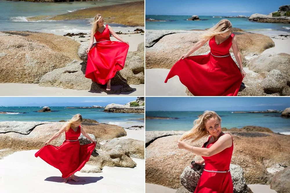 Cape Town elopement tour Lady in Red