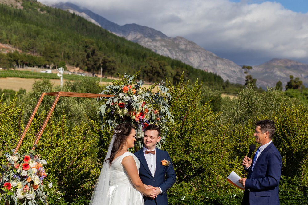 In Harmonie Franschhoek Wedding mountain views