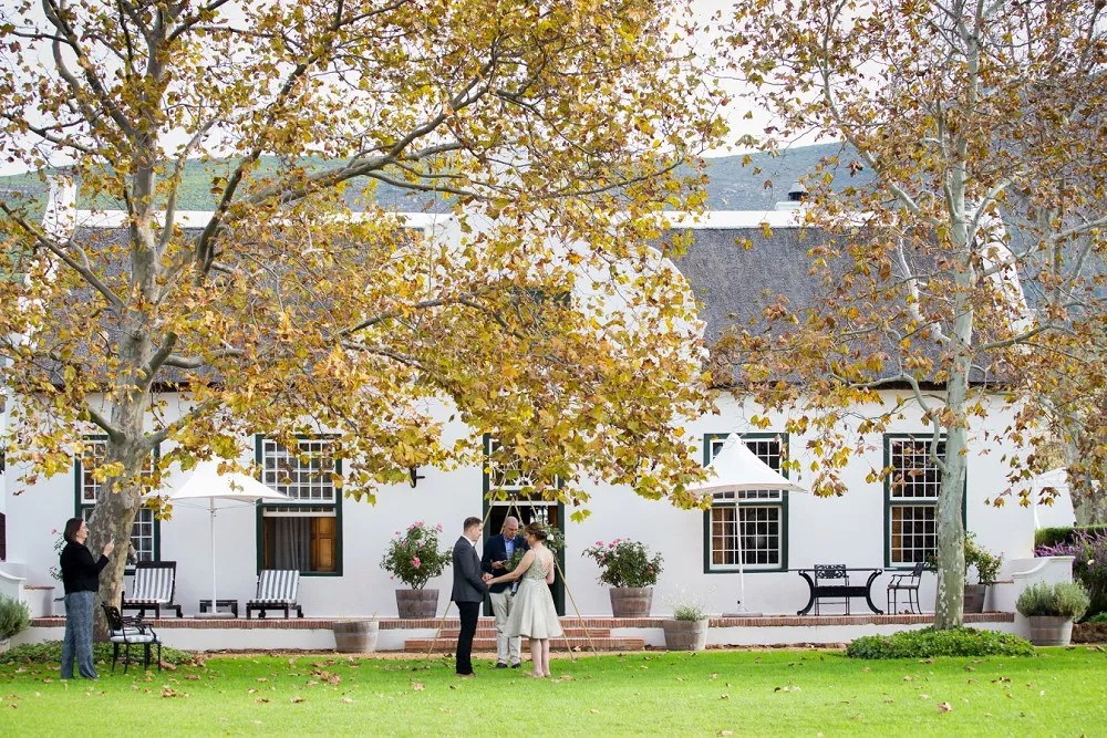 Cape Town elopement Steenberg Manor House