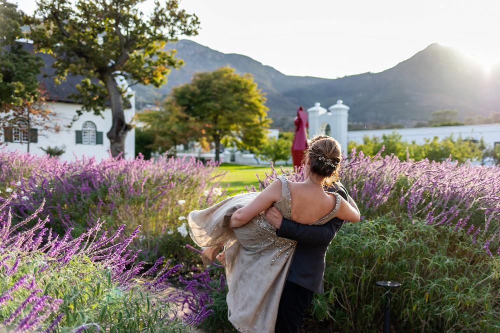Cape Town elopement beautiful gardens at Steenberg