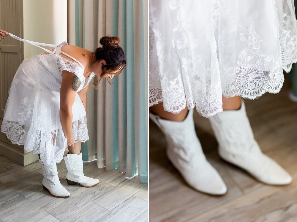 Intimate west coast wedding bridal details