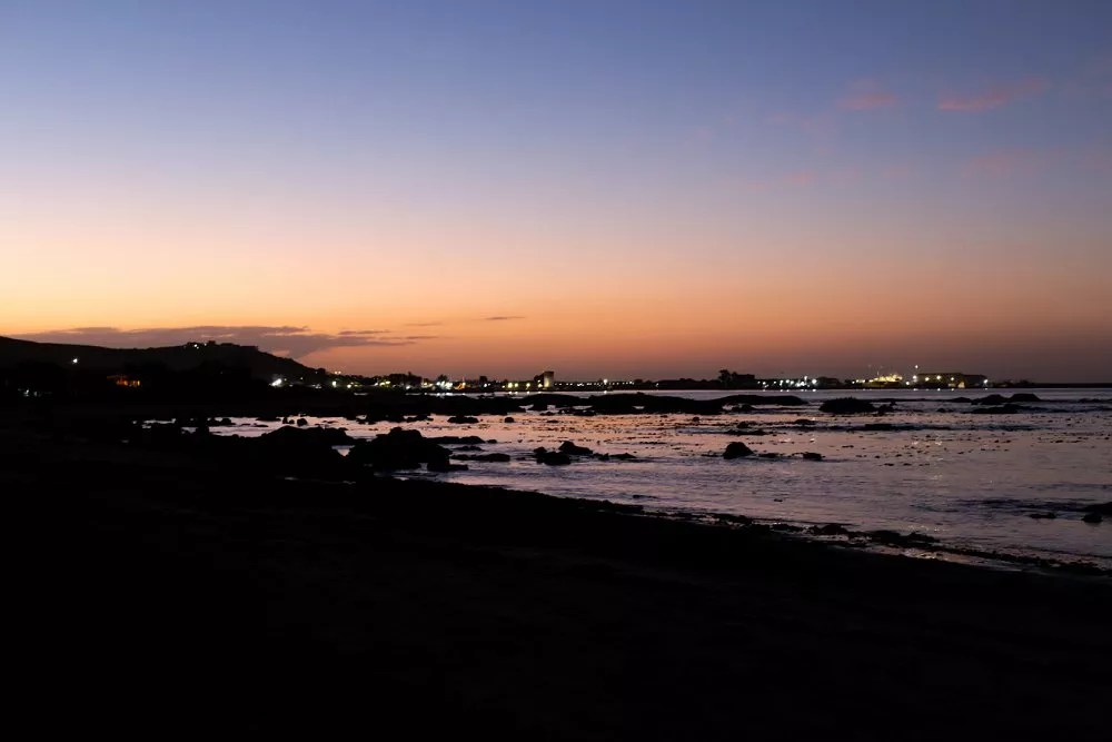 Intimate west coast St Helena Bay after sunset
