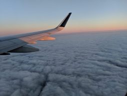 sunrise view from an airplane