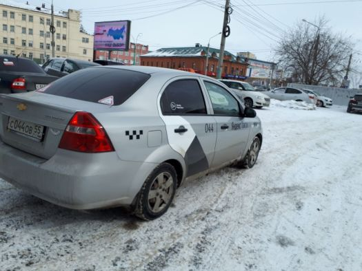 Chevrolet Aveo 2010, серый, С044ОВ55