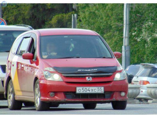 Honda Stream 2004, красный, О504ХС55