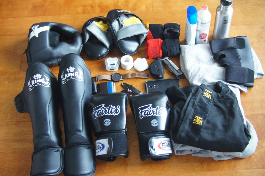 Everything that fits in the Datsusara Gear Bag Core