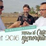 30 restaurantes, buen producto y alta gastronomía para la Mostra de Cuina Menorquina 2016. Exquisita Menorca ha realizado el spot promocional del evento.