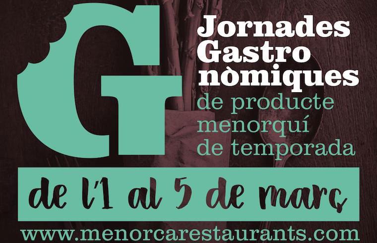 Cartel de las Jornadas Gastronómicas de Producto Menorquín y de Temporada