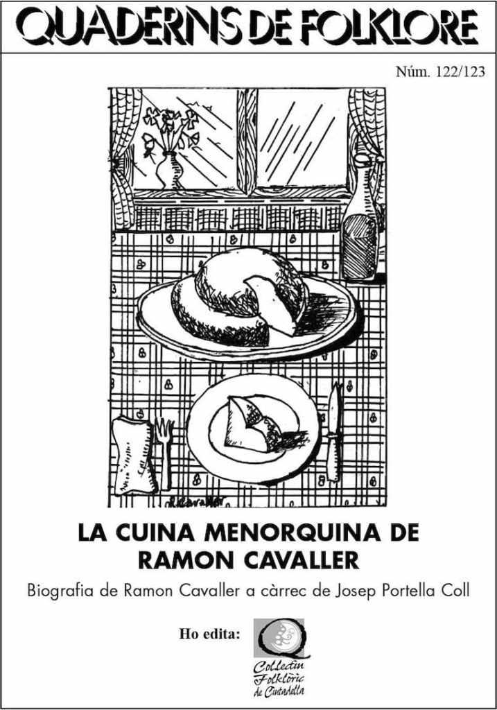 portada Quadern de Floklore La cocina de Menorca Ramon Cavaller