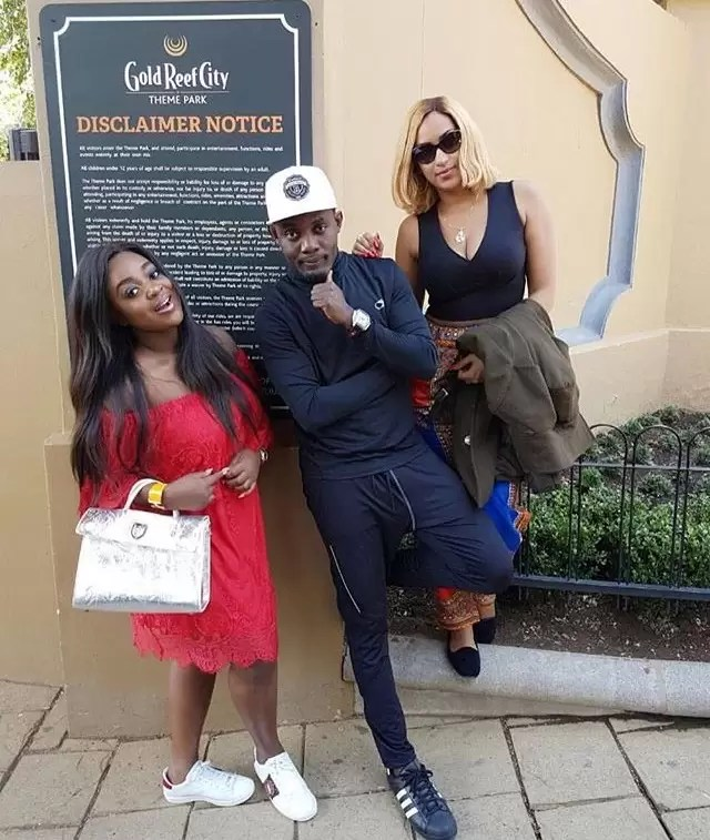 jackie-appiah-and-ay-at-entrance-to-gold-reef-city-theme-park-30-mins-from-sandton-johannesburg