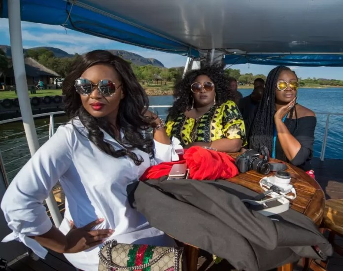 l-r-jackie-appiah-dami-of-the-beat-fm-and-omalicha-of-rhythm-on-boat-cruise-on-hartbeespoort-dam-an-hours-drive-away-from-sandton-800x632