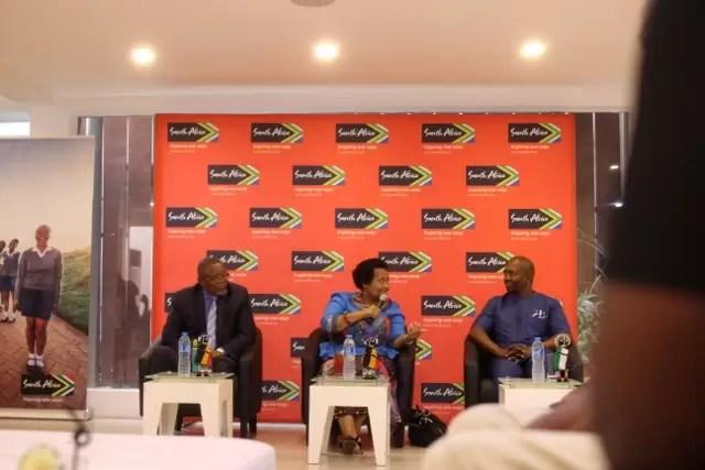 Mr Sisa Ntshona, The Consul General, South African High Commission, Mr. Darkey Africa, H.E Lulama Xingwana, South African Ambassador to Ghana (640x427)