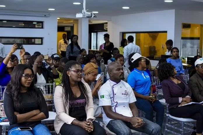 Front Row (L)- Baileys BakeFest Contestants- Tolu Samaiye, Yemisi Ariyo & Olusegun Adesina