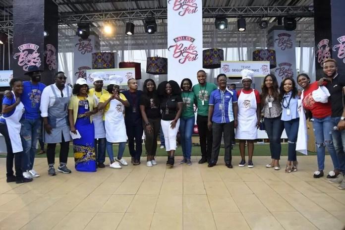 Team Mai & Fimi,Team Funke & Segun,Team Alex&Tolu, Team Waje & Yemisi with judges