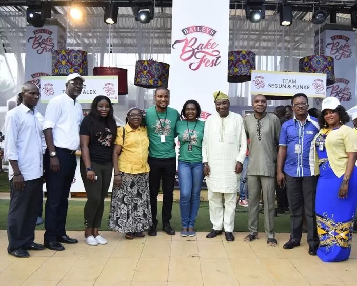 Winners of Baileys BakeFest 2017 (Team Alex &Tolu) and Tolu Samaiye's family