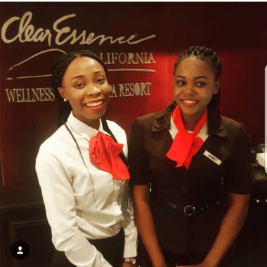 Welcoming faces at the Clear Essence Spa and wellness resort