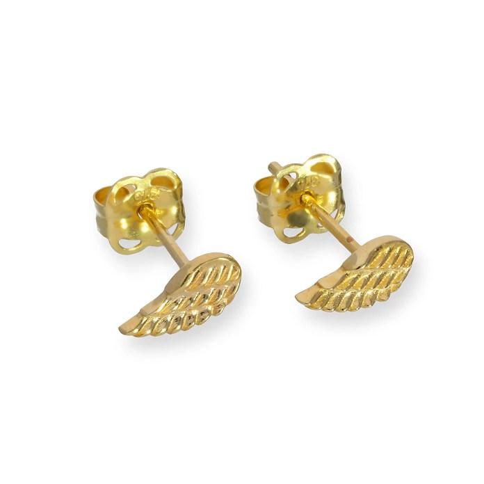 JSK-002_9ct_Gold_Angel_Wing_Stud_Earrings