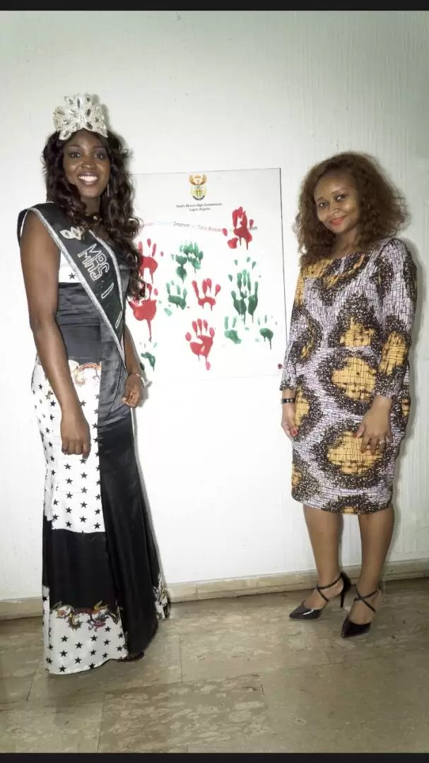 EMNews - SOUTH AFRICA AMBASSADOR PLAYS HOST TO MRS NIGERIA UNIVERSE QUEEN. 10