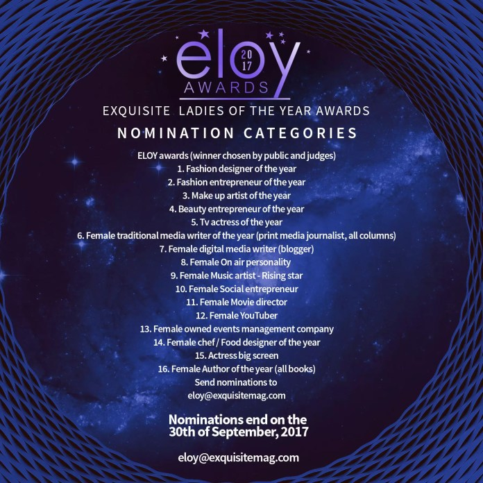 The 9th ELOY Awards - call for nominations. 1