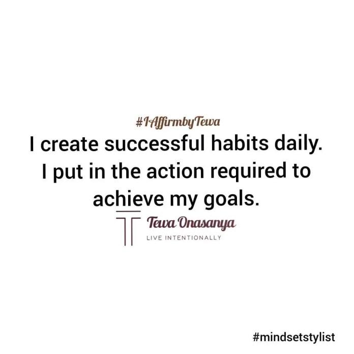 Mindset Shift with Tewa: I create successful habits daily 1