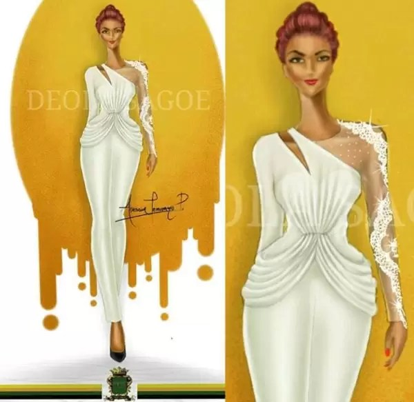 Fashion illustrator, Celafrique is one of the fashion illustrators at gtbankfashion weekend 5