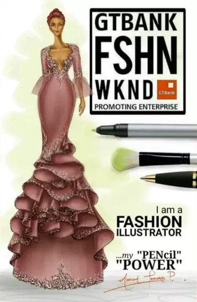 Fashion illustrator, Celafrique is one of the fashion illustrators at gtbankfashion weekend 4