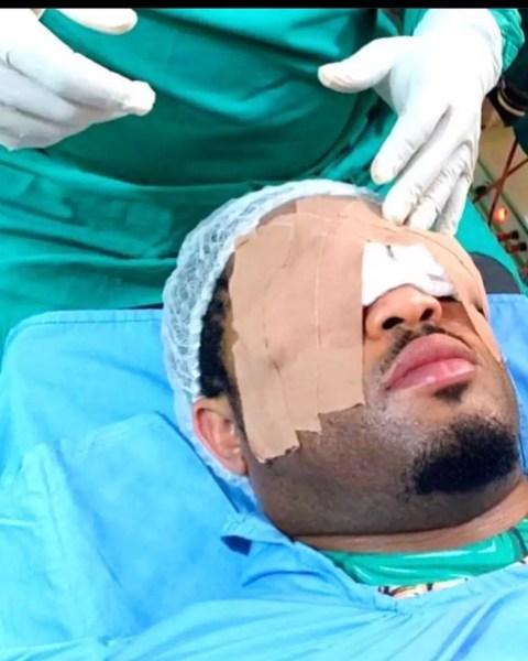 Mike Ezuronye Undergoes Eye Surgery