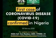 First Case of Coronavirus in Lagos