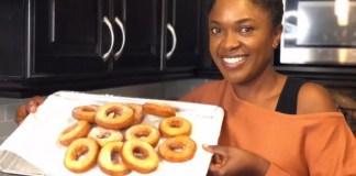 homemade doughnuts by Omoni Oboli