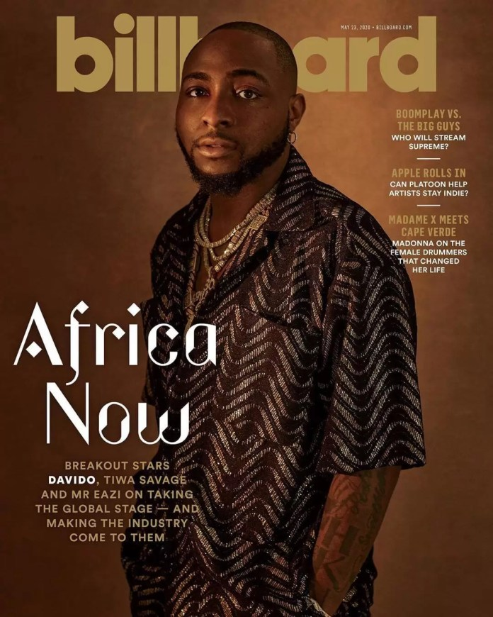Get The Deets On Every African Designer Tiwa Savage, Davido & Mr Eazi Wore On The New Billboard Cover! 2