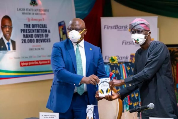 First Bank Presents Devices To Lagos State Towards Driving 1 Million Students To E-Learning 1