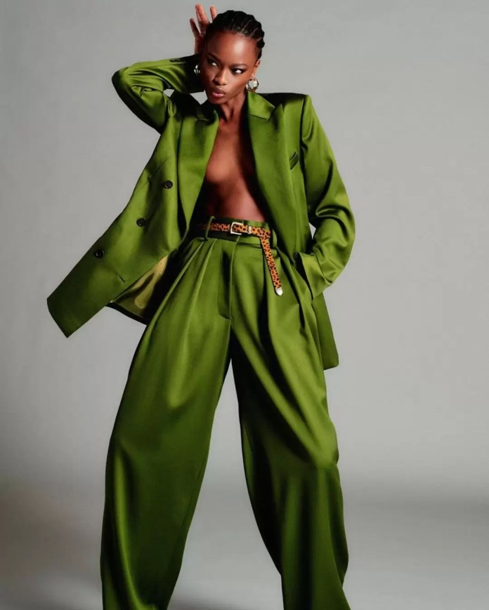 Take A Look At Brandon Maxwell's Lookbook Featuring Mayowa Nicholas For His Pre-Spring Collection 1