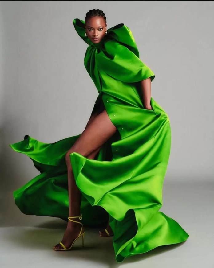 Take A Look At Brandon Maxwell's Lookbook Featuring Mayowa Nicholas For His Pre-Spring Collection 4