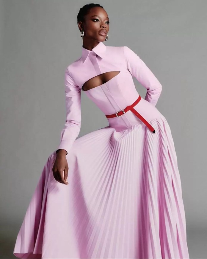 Take A Look At Brandon Maxwell's Lookbook Featuring Mayowa Nicholas For His Pre-Spring Collection 7