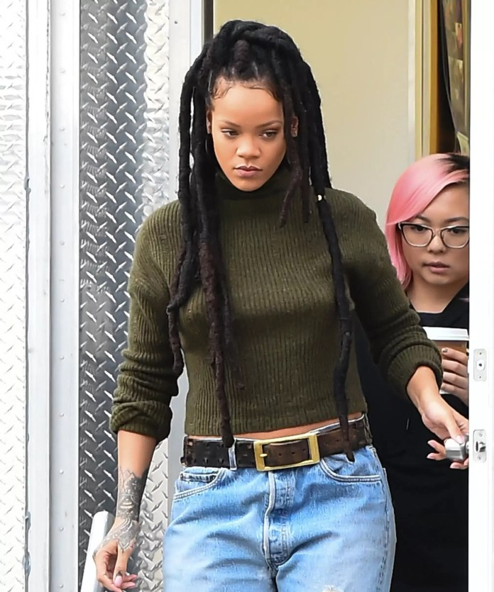 Rihanna Rocking Faux Locs In All Their Glory | Focus On 1