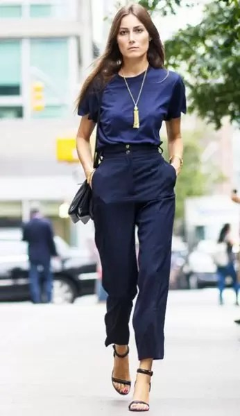 Ladies, It's Time To Get Your Blue Game On With These Awesome Blue Shirt Outfit Ideas 2
