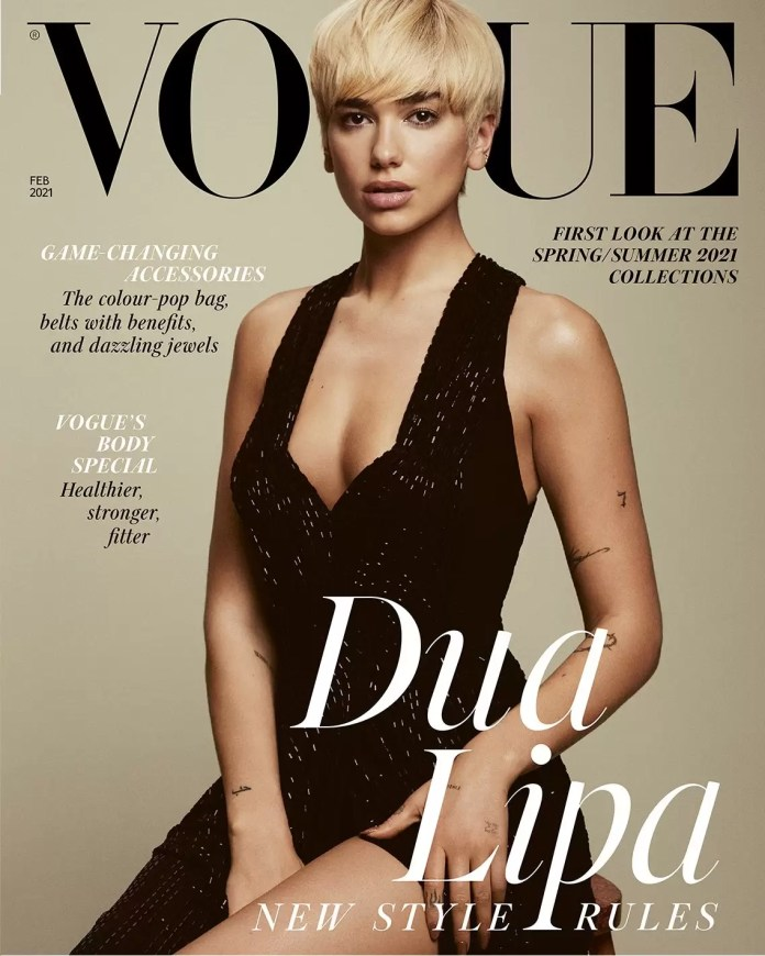 Dua Lipa Sits Pretty On The Cover Of British Vogue's February 2021 Issue 1