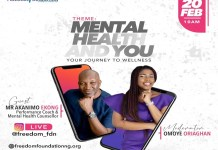 Freedom Foundation is inviting the general public to be a part of this conversation on Mental Health and You