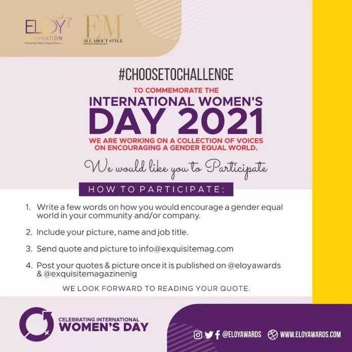 Let Your Voice be Heard For A Gender Equal World #choosetochallenge 1
